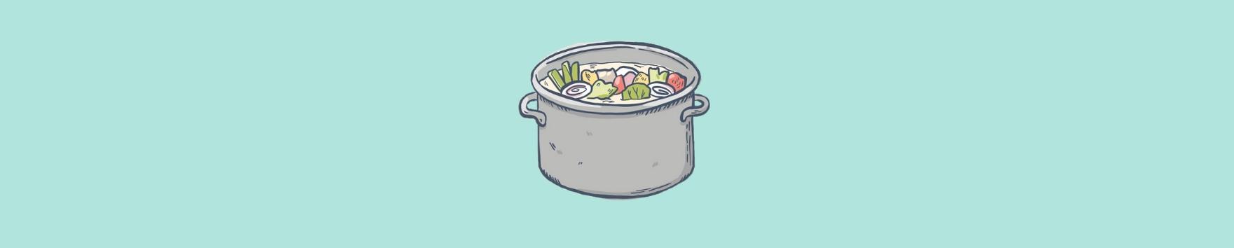 Suppe aus Gemüseabschnitt